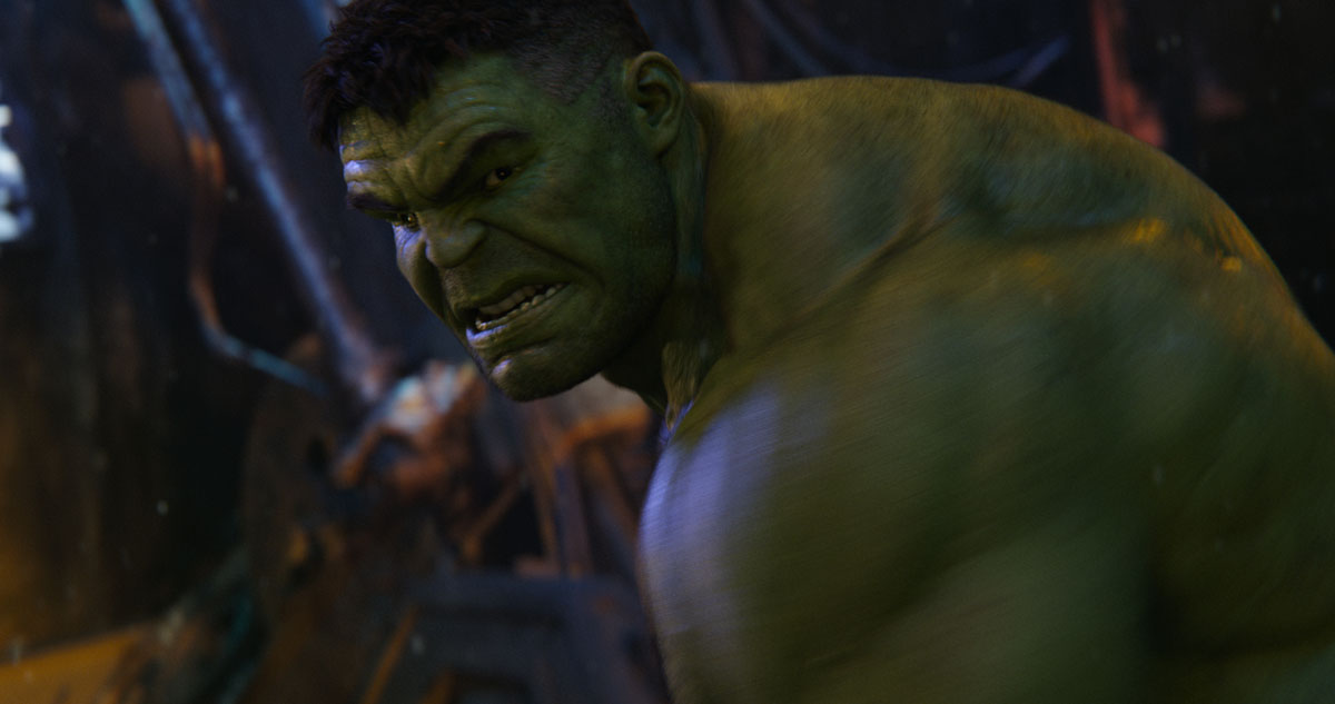 Hulk (Mark Ruffalo) in Action in Marvel Studios' AVENGERS: INFINITY WAR