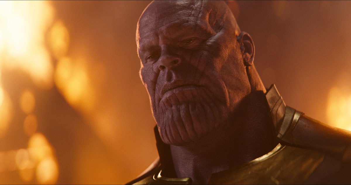 THINKFUL: Thanos (Josh Brolin) seeks the Infinity Stones in Marvel Studios' AVENGERS: INFINITY WAR