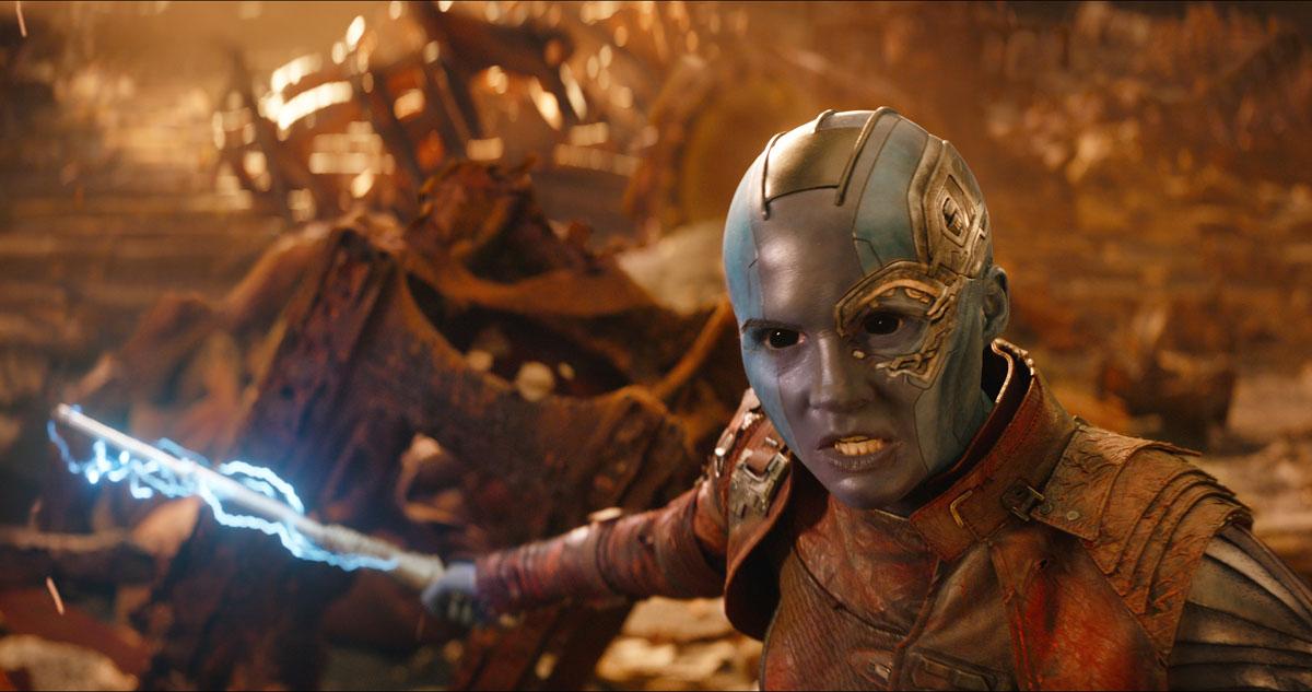 Nebula (Karen Gillan) in Marvel Studios' AVENGERS: INFINITY WAR