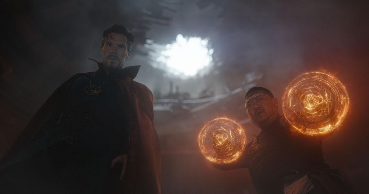 Marvel Studios' AVENGERS: INFINITY WAR..L to R: Doctor Strange (Benedict Cumberbatch) and Wong (Benedict Wong)..Photo: Film Frame..©Marvel Studios 2018