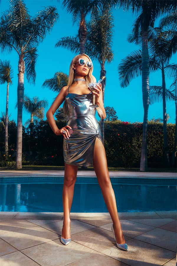 Paris Hilton Metallic Twist Front O Ring Dress of the boohoo x Paris Hilton Collection