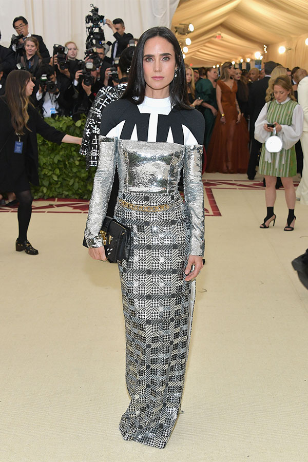 Jennifer Connelly attends the Heavenly Bodies: Fashion & The Catholic Imagination Costume Institute Met Gala at The Metropolitan Museum of Art on May 7, 2018 in New York City. (Photo by Neilson Barnard/Getty Images)