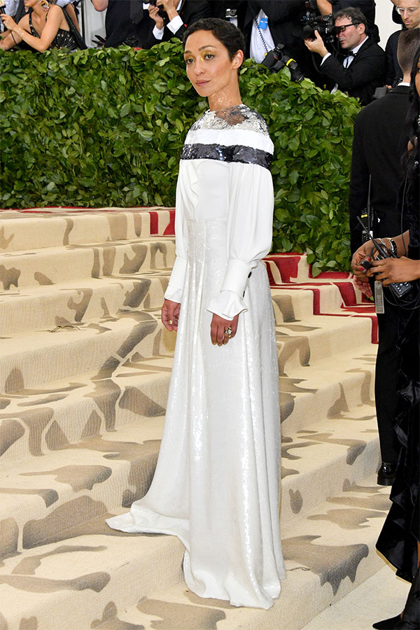 Ruth Negga attends the Heavenly Bodies: Fashion & The Catholic Imagination Costume Institute Met Gala at The Metropolitan Museum of Art on May 7, 2018 in New York City. (Photo by Dia Dipasupil/WireImage)