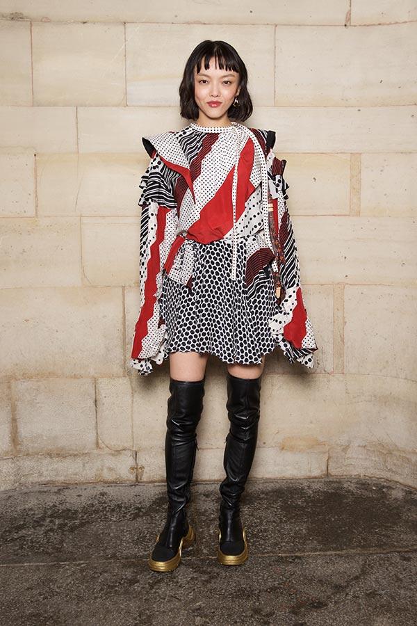 RILA FUKUSHIMA loves graphics and thigh-high-boots