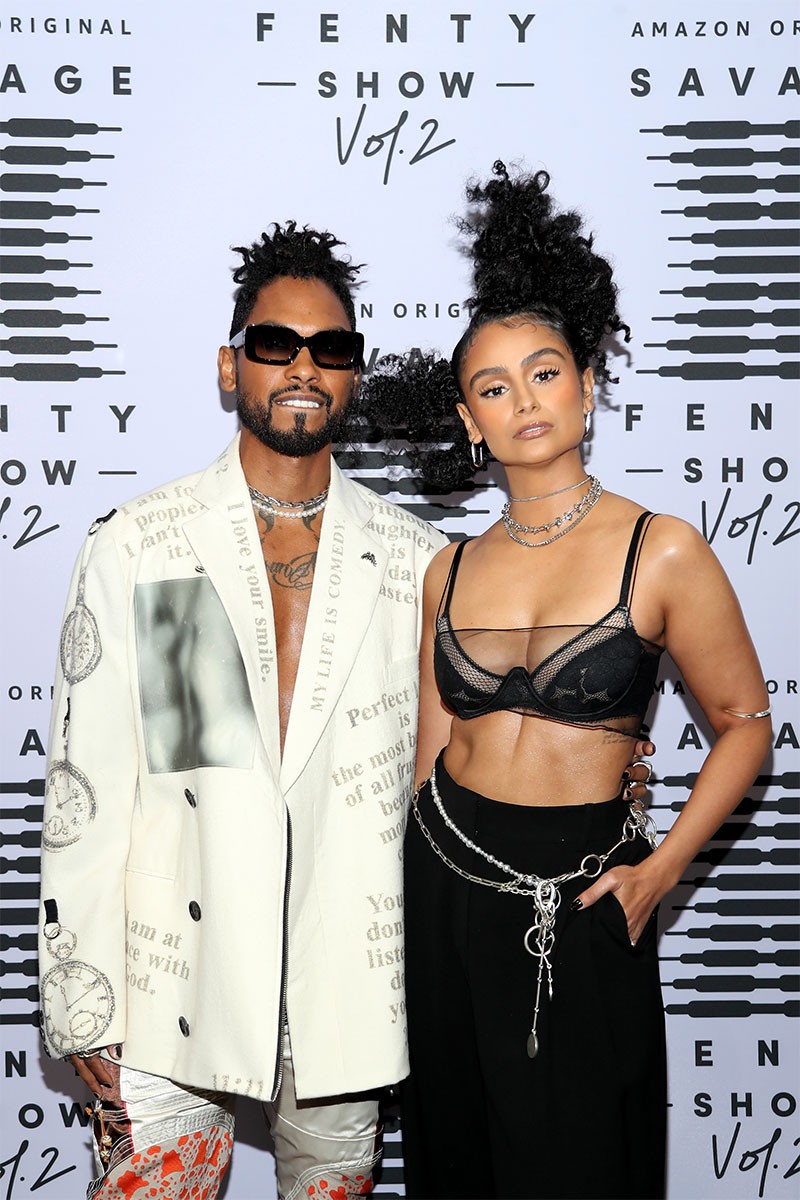MIGUEL & NAZANIN MANDI at the Savage X Fenty ©Jerritt Clark/Getty Images