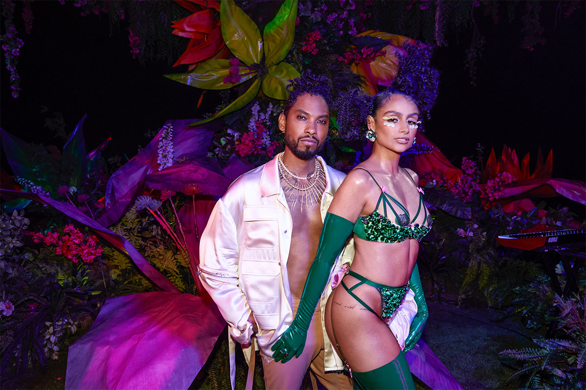 MIGUEL & NAZANIN MANDI the couple in the Savage Garden of Eden